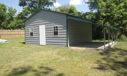 Side Entry Barn with Lean- To #2012 - STOR ALL