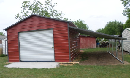 Single Lean-To Barn #2027 - STOR ALL