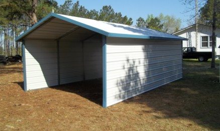 Single A Frame Carport With Enclosed Sides 3007 Stor All