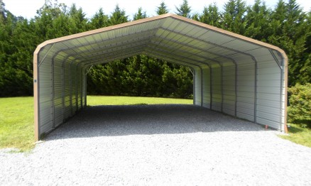 Long Carport with Sides Enclosed #3014 - STOR ALL